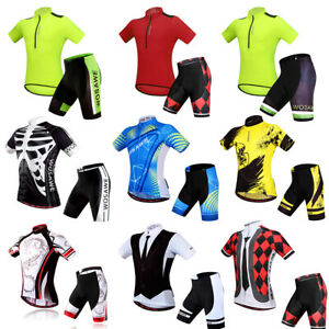 Mens-Cycling-Sets-Breathable-Jersey-Padded-Shorts-MTB-Kits-Quick-Dry-Underwear
