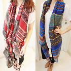 Fashion Pretty Geometric Print Long Soft Autumn Winter Scarf Wrap Shawl Scarves