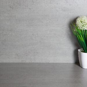 Solid Concrete Effect Compact Laminate Ultra Thin 12mm Slimline Kitchen Worktops Ebay