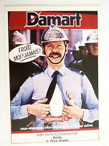 Carte-Editions-Atlas-Slogan-Publicitaire-1982-Damart-Thermolactyl