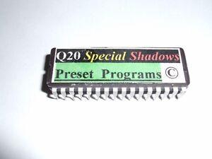 "Alesis Q20 ""special Ombres's 100 Preset Programmes Eprom Chip-copyrighted.-afficher Le Titre D'origine"