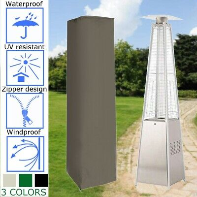Home Garden Waterproof Cover Pyramid Real Flame Patio Gas Heater Outdoor Cover