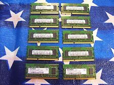 Mixed lot of 10 DDR3 1Gb laptop memory 2R x 16 8500s