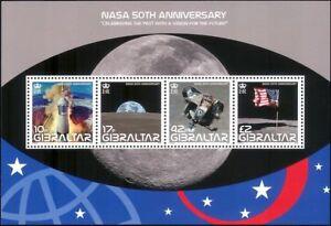 Gibilterra-2008-NASA-spazio-Apollo-11-razzi-atterraggio-sulla-luna-Bandiere-4v-M-S-s6392n