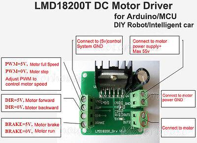 1PCS PWM Adjustable Speed LMD18200T DC Motor Driver Controller Module Board NEW