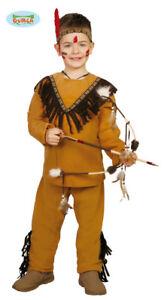 9923b74341bf Caricamento dell'immagine in corso Costume-Carnevale-Bambino-Da-Indiano- Vestito-Di-Bimbo-