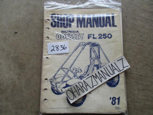 1981 Honda Fl250 Odyssey Shop Service Manual Oem