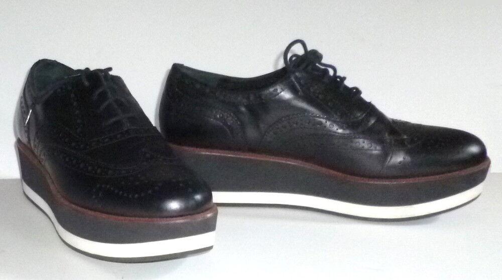 PALOMITAS PALOMITAS PALOMITAS by Paloma Barcelo BLACK Wingtip PLATFORM shoes-38 a5b531