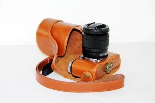 Siempre listo Cámara Pu Cuero Bolso Funda Protectora Para Fujifilm x-a2 / Xc Xa2 16-50mm