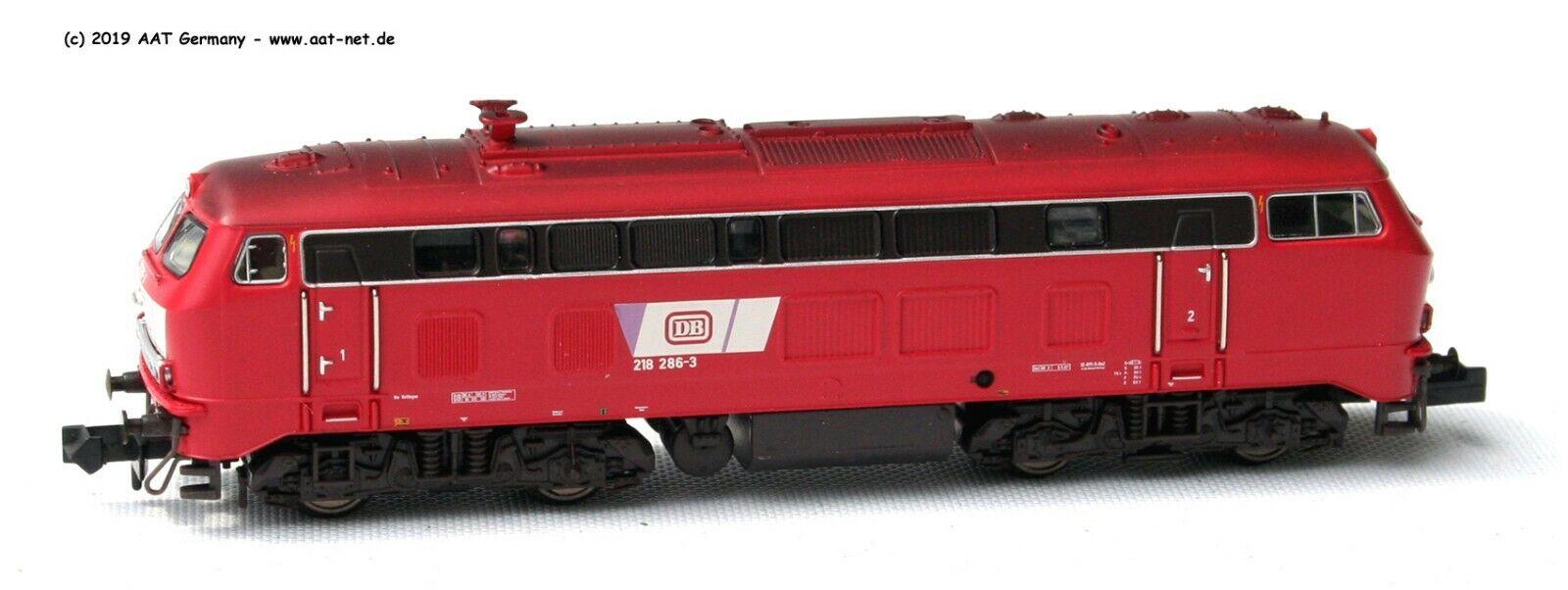 Minitrix N 16288 - Locomoore Diesel Br 218 286 -3 DB Ep.IV Nuovo e Confezione