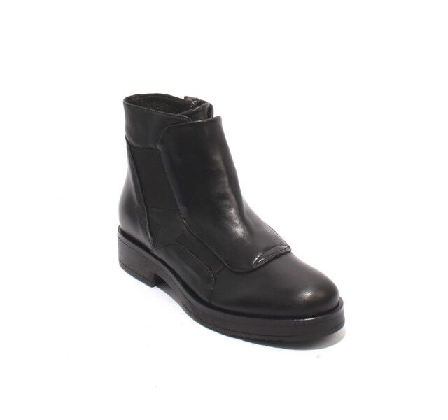 Mally 6310 Negro Cuero Elástico Elástico Elástico Cremallera botas al Tobillo 35 US 5  precio al por mayor