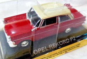 Opel-Rekord-P2-Rossa-Die-Cast-1-43-Scala-1-43-DeAgostini-Nuova