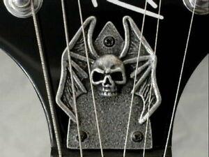 SKULL-TRUSS-ROD-COVER-fits-bc-rich-MOCKINGBIRD-guitar-HAND-MADE-METAL-PLATE