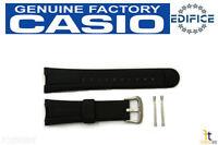 Casio Ef-305 Edifice Original Black Rubber Watch Band Strap W/ 2 Pins Ef-305-9