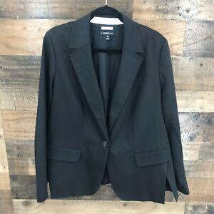 New Lane Bryant The Modernist Collection Women's Black Single Button Blazer