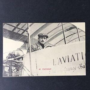 CPA-Aviation-Paulhan-Aviateur-Aeroplane-Aviator-Postcard