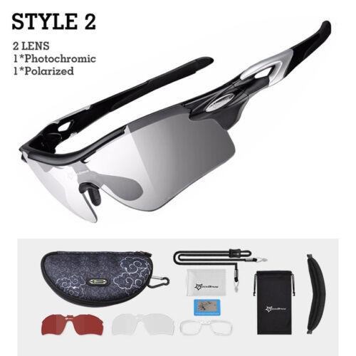 ROCKBROS Photochromic Glasses Sunglasses Polarized Lens Sports Goggles Eyewear