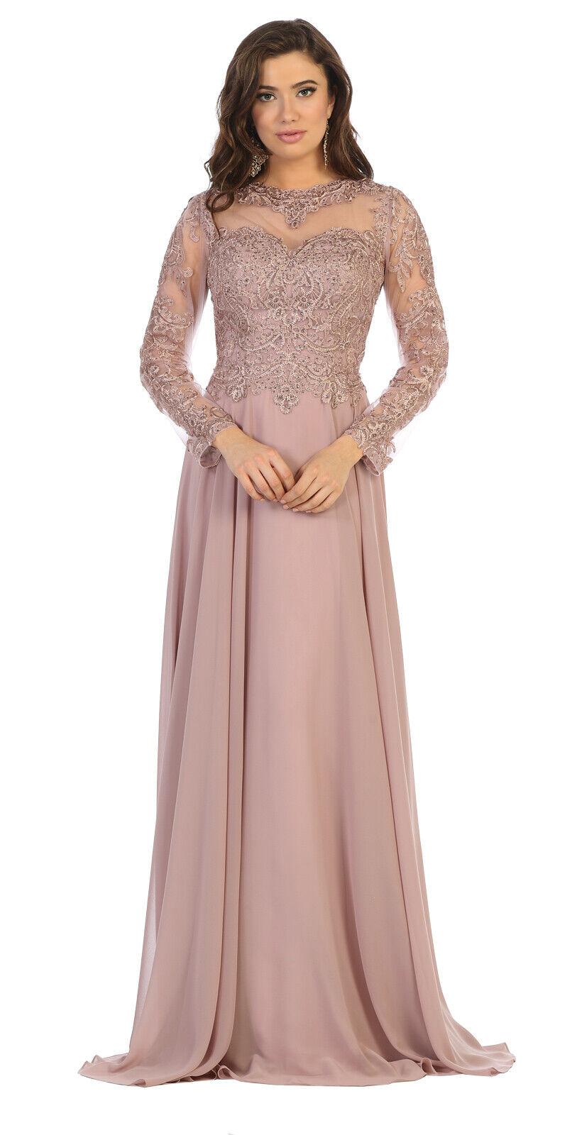Brautmutter Langarm Abendkleid Besondere Kleid Übergrößen
