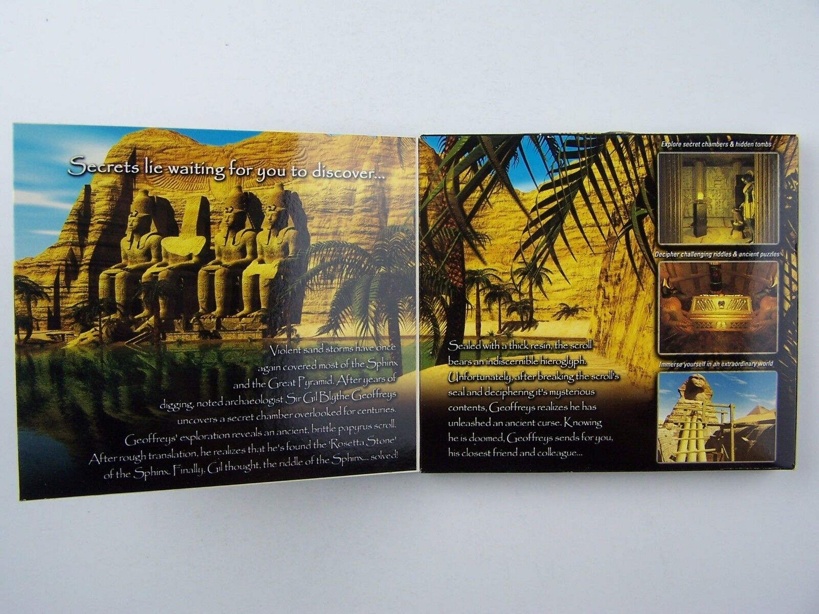 Riddle of the Sphinx: An Egyptian Adventure PC CD Game