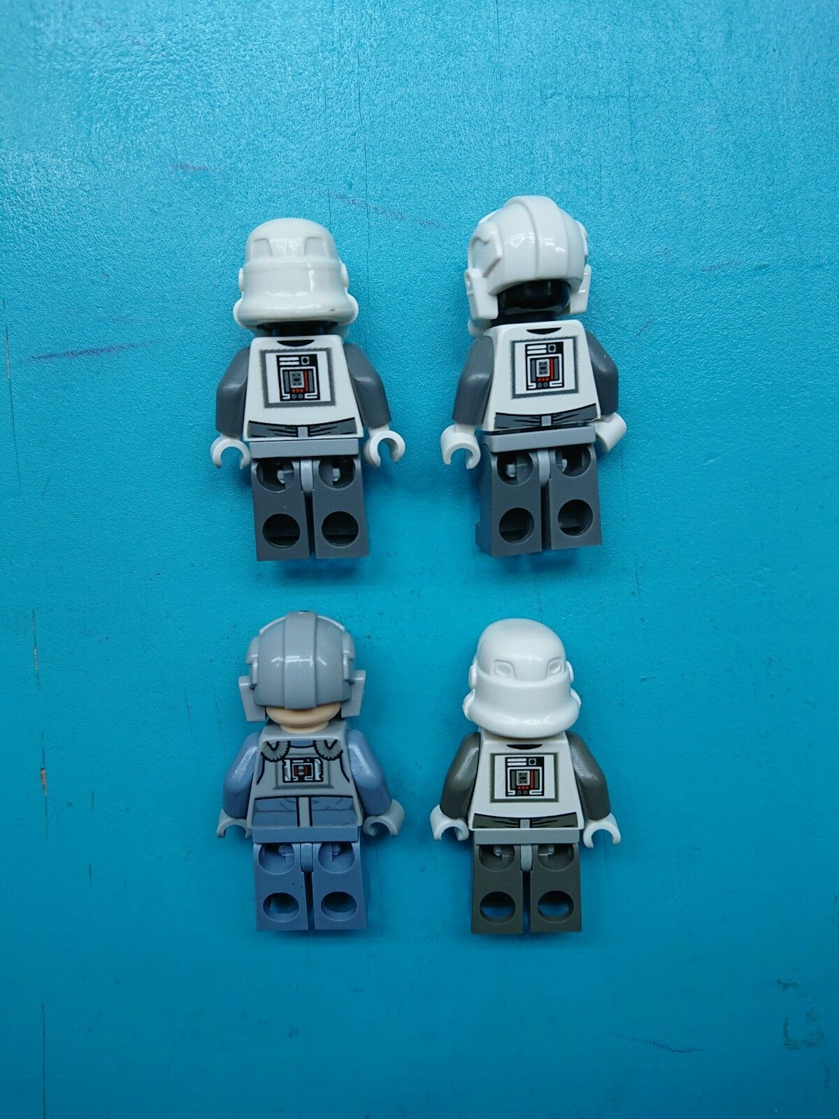 Lego Star Wars Lot of 4 4 4 Minifigures All Imperial AT-AT Pilots Drivers Ever Made  a37bf1