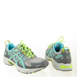 6f15fe5a8a8c Women s Asics GEL-Venture 5 Running Sneakers Silver Grey Lime Punch ...