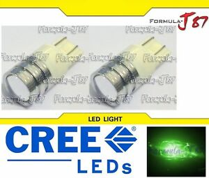 LED Light 80W 7440 Green Two Bulbs Stop Brake Tail Upgrade Replace Show Use