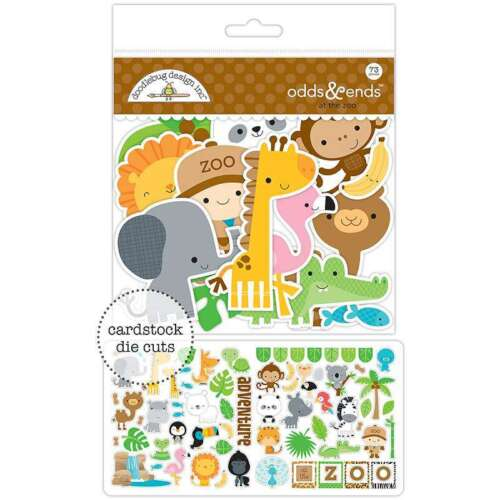 Doodlebug Odds /& Ends Die-Cuts At The Zoo 842715056008