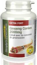 Ginseng Coréen 2000mg - Peut réduire le stress - 120 comprimés