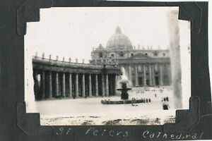 WWII-1940s-SC-GI-039-s-Italy-2-Photos-Rome-Church-St-Peters-Cathedral