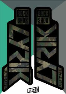 Rock Shox LYRIK 2020 ULTIMATE Mountain Bike Cycling Decal Sticker Green Gray