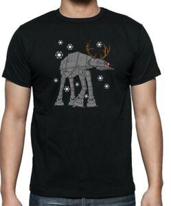 Star Wars para hombre Navidad At-at Reno Camiseta