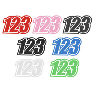 Custom Vinyl Race Number Stickers Dirt Bike Motocross Trials - Custom vinyl decals numbers