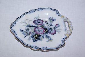 Antique-Wedgwood-Pearl-Scarce-Handfinished-Leaf-Shape-11-034-Plate-Dish-5563