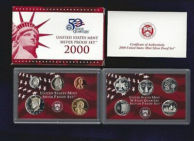 SILVER Proof Set 2000-s U.S U.S Mint Made in Red Mint Box with COA