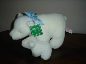 "Russ Polar Bear & Baby "" Chillbrr "" Retired with Tags"