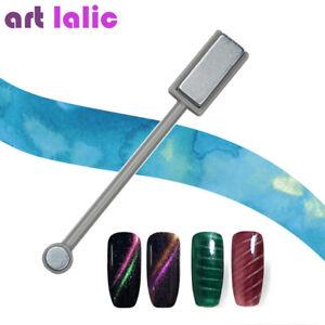 UV-Gel-Polish-Nail-Art-Magnet-Stick-Cat-Eye-Varnish-3D-Line-Tool-Double-Head
