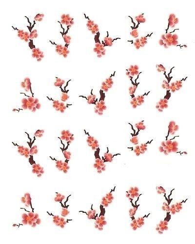 One Stroke Sticker, Blumen, Ranke,Tattoo, Aufkleber  Nr.1127