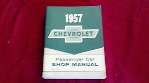 SHOP CHEVY 57 CAR MANUAL CHEVROLET NEW 1957 qwIv5Bw