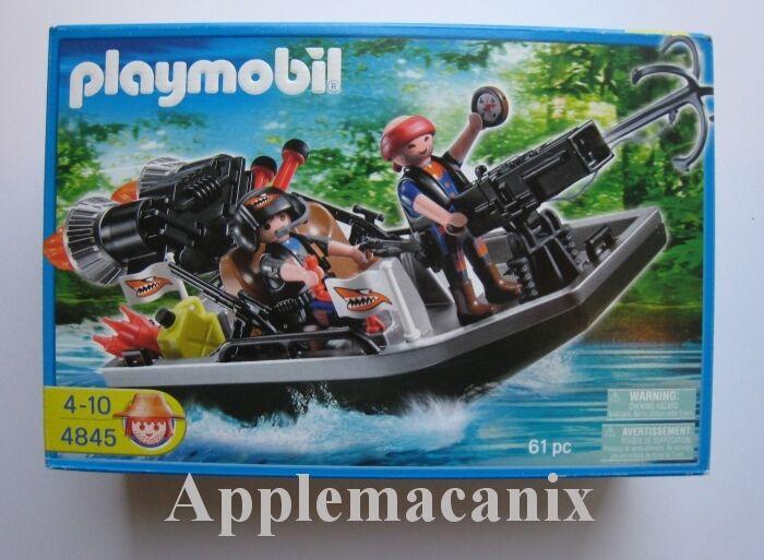 SEALED - nuovo - PLAYMOBIL 4845 Treasure Hunters with  Speedboat & Hook Canon  la migliore moda
