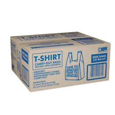 T Shirt Carry Out Bags 115 X 65 X 22 1000 Ct
