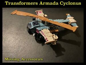Hasbro Transformers Armada Cyclonus (Missing Accessories & Missing Minicon) 2003