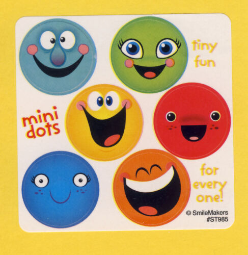 Party Favors 90 Smile Face Mini Dot Stickers