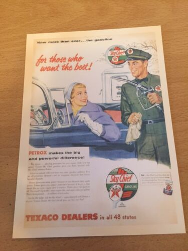 Retro Reproduction Advertising Themed Postcard NEW Sky Chief Gasoline