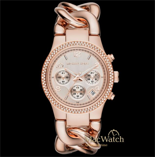 Michael Kors Damen Uhr MK3247 Chronograph Edelstahl, roségold NEU OVP