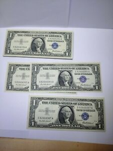 83-Total-Consecutive-1957-1-Silver-Certificates-Blue-Seal-Notes