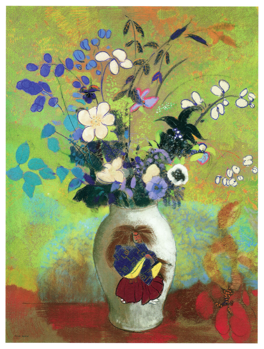 20x30 Decoration CANVAS.Interior room design art.Flower vase painting.6647