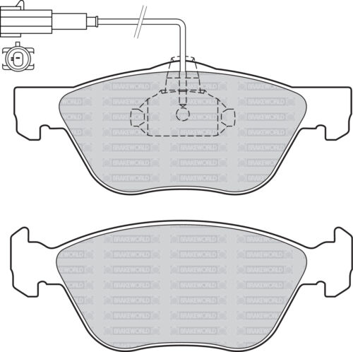 OEM SPEC FRONT DISCS AND PADS 285mm FOR ALFA ROMEO 147 1.6 2000-09
