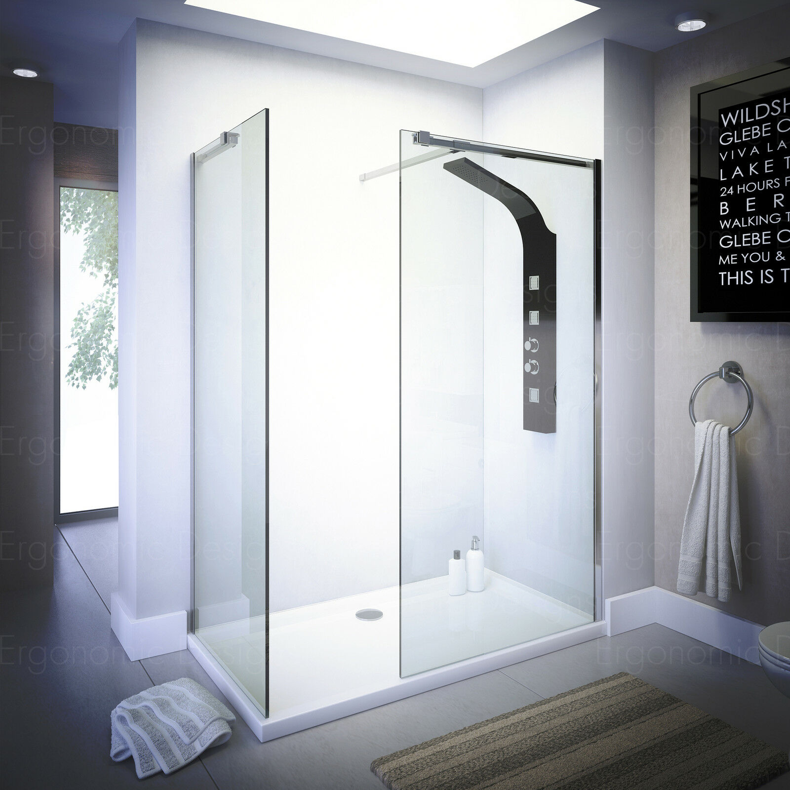 Walk In Shower Enclosure 500mm Walk In Shower Enclosure Wet Room Easyclean 10mm Glass Tall