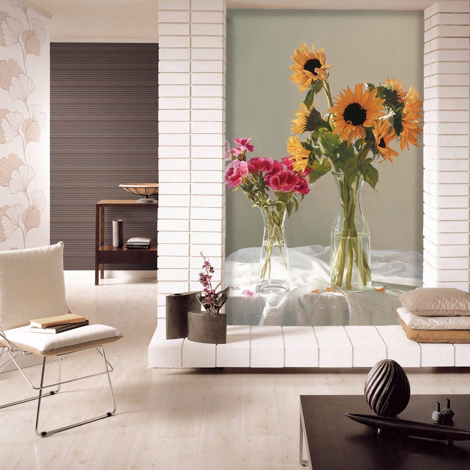 3D Blaumen SonnenBlaume 7 Tapete Wandgemälde Tapete Tapeten Bild Familie DE Summer