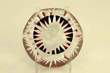 Vtg Baccarat Crystal Sulphide Pope Pius Xii Red Faceted Paperweight A David 1959